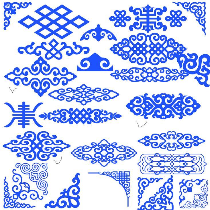 这是一款蒙古族风格的花纹边框
