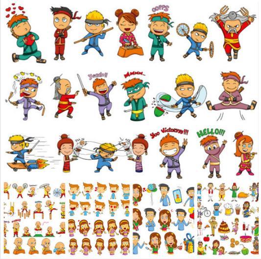 兒童們的童心可是非常珍貴的,多彩卡通兒童動漫造型設計AI素材中就為大家帶來了一組以兒童為主題設計的各種造型,其中可有男生,女生,手機,氣球,禮物,卡通蛋糕,啤酒,椰子,Q版人物,愛動漫人物,日本動漫,小和尚,光頭,動漫人物等等超多有趣的造型哦,想要進一步了解就來數碼資源網中了解吧。