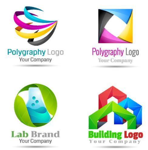 创意抽象立体多媒体图形logo矢量图