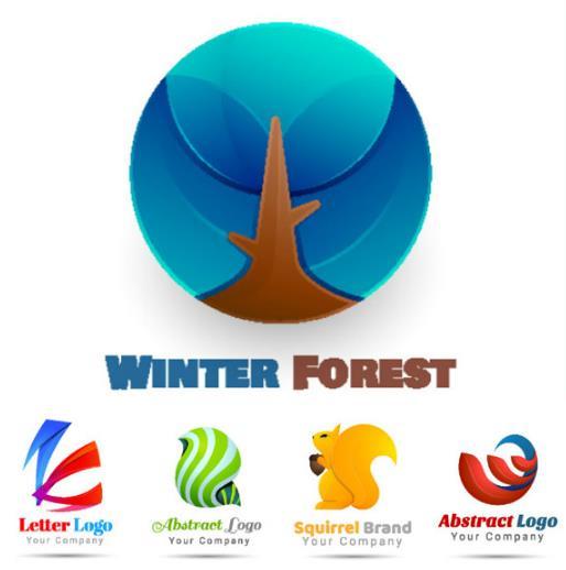 独特的企业logo设计矢量图片素材