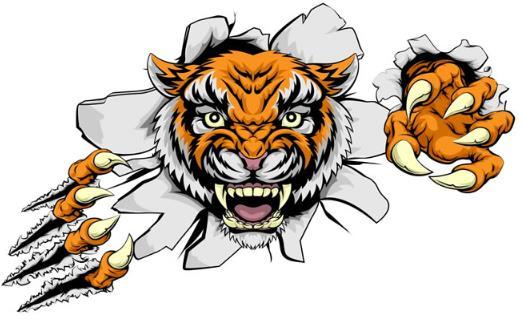 老虎可是森林之王,所以凶猛可是老虎的标签,凶猛的老虎车贴设计矢量图片素材中就是一款以手绘形式设计的老虎图片,图片中的老虎张开两只爪子漏出了胸闷的眼光,而且还有爪子撕扯的效果设计,还做出了张开了血盆大嘴的造型,有需要的设计师们可以来本站寻找你需要的资源。