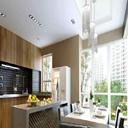 开放厨房与餐厅模型