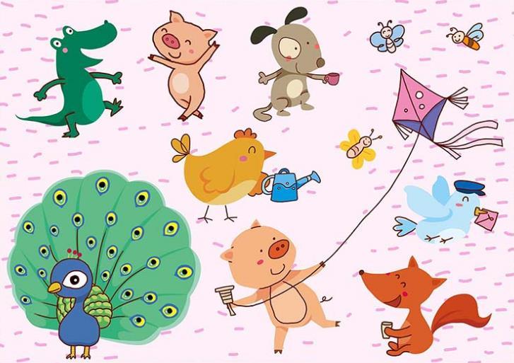 超可爱的卡通动物psd分层素材