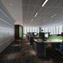 企业办公大厅模型