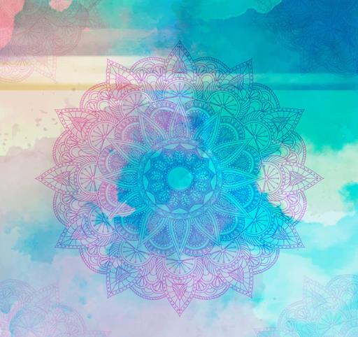 水彩混色欧式花纹设计矢量素材
