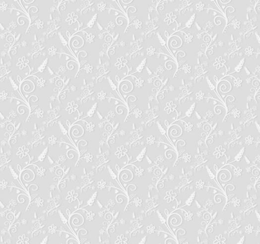 白色质感素雅花纹灰色背景矢量图