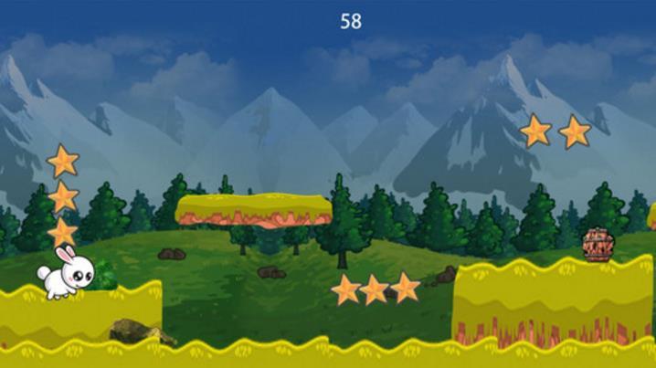 可爱的兔子山跳苹果版(充分的打发时间) v1.0 手机最新版