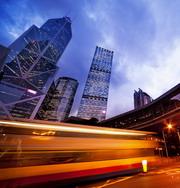 香港繁华城市夜景风光摄影高清图片