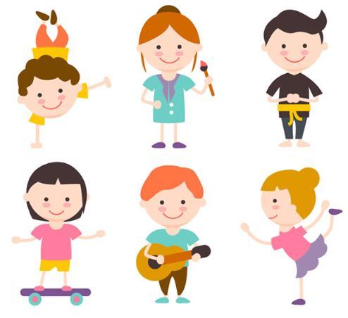 可爱儿童才艺表演ai素材