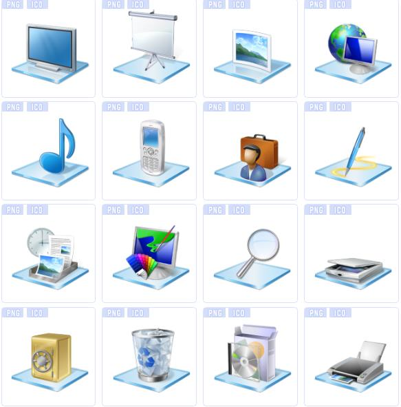 办公耗材相信大家都知道有什么,那么这款立体办公用品主题ico图标就是以办公用品为主题设计的14张图标素材,其中都是以立体的造型设计展现给大家的,电脑,投影布,手机,时钟,电脑绘画,扩大镜,打印机,保险箱,垃圾回收桶等等都属于图标的造型设计,需要就来数码资源网下载图标吧。