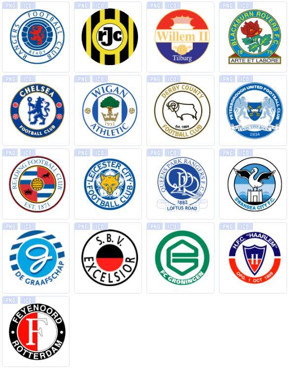 彩色足球俱乐部圆形ico图标