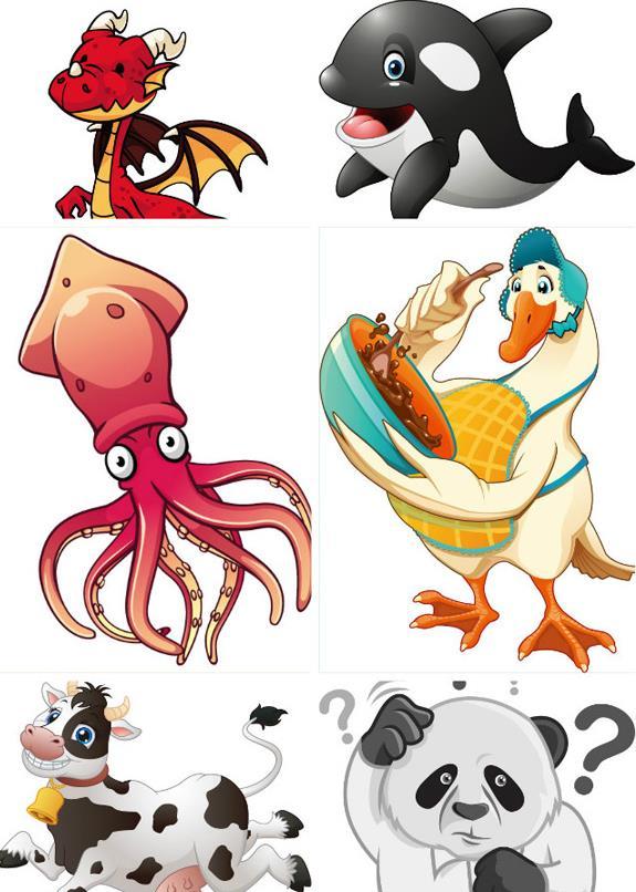 超萌卡通动物矢量图片素材