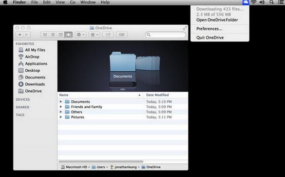 OneDrive for Mac截图