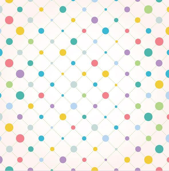 彩色圆点连线背景矢量图片素材,其中以黄色为主要背景设计,正方形格子
