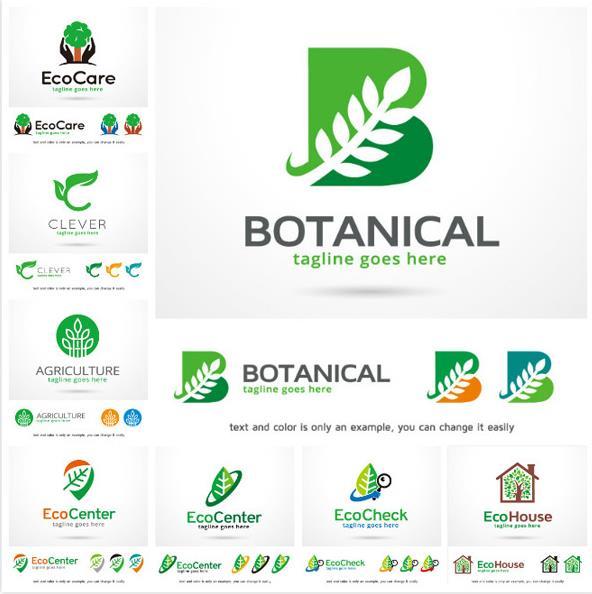 创意绿色农业环保logo设计ai素材图片