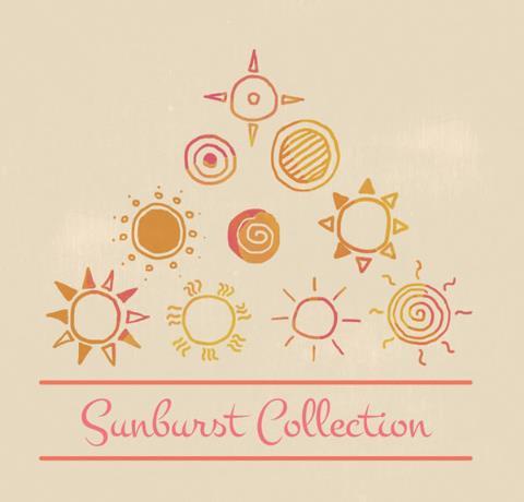 手绘童趣太阳矢量素材