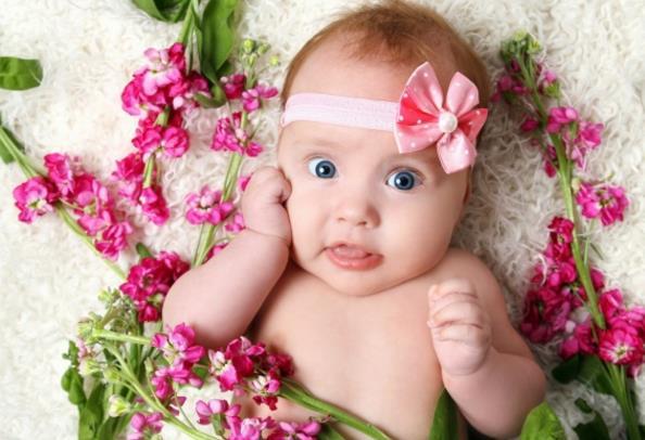 可爱外国婴儿写真精美图片