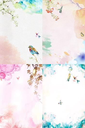 水彩风春季主题背景高清图片就是你需要的具有春天气息的背景图,采用