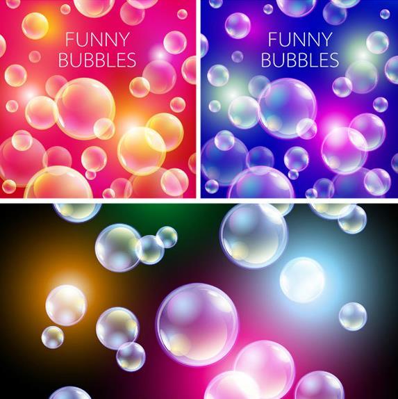 创意小泡泡背景矢量素材图片