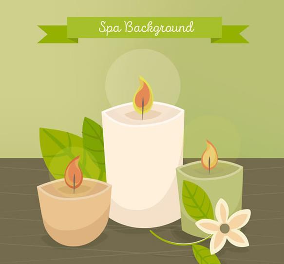 spa精油蜡烛设计矢量图片素材