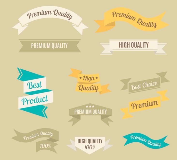 12款优质条幅丝带设计ai素材