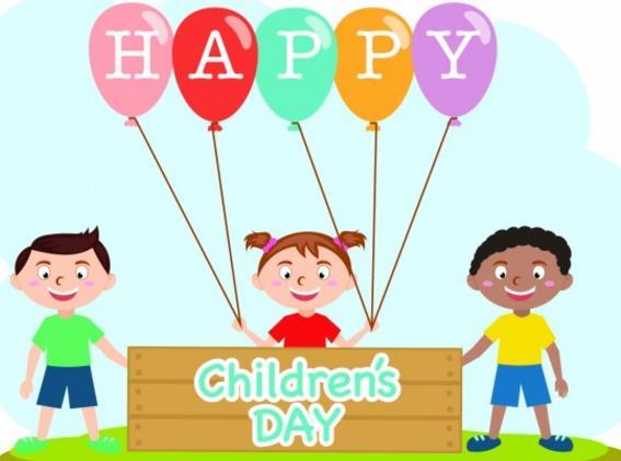 慶祝六一兒童節高清圖片中采用的是卡通的風格,運用三個卡通人物形象