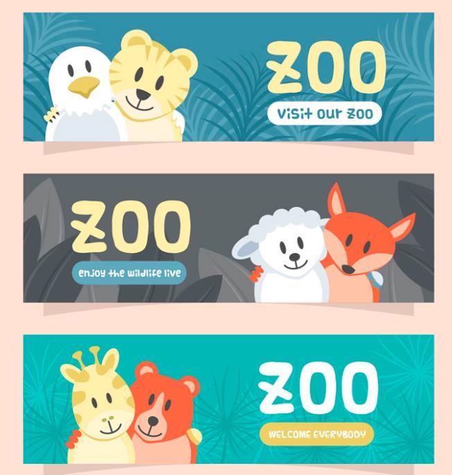 下载地址 3款卡通可爱动物好朋友矢量图 pc