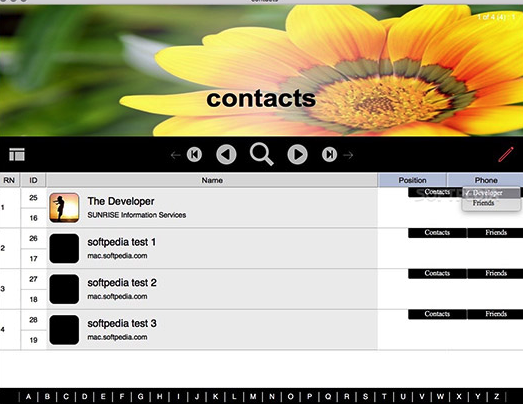 SUNRISE Contacts for Mac