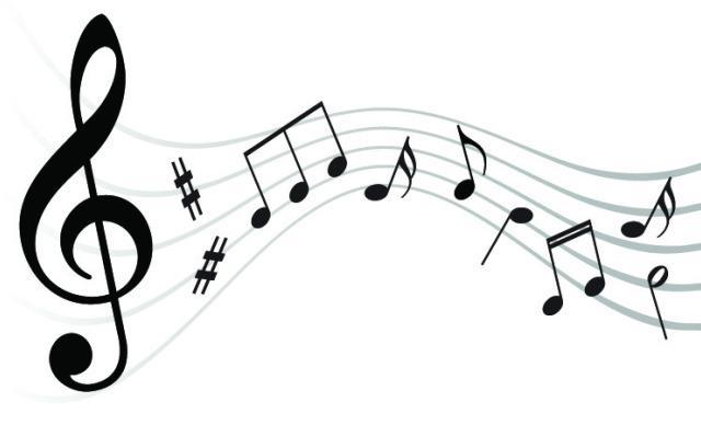 五线谱符号音符矢量图片素材