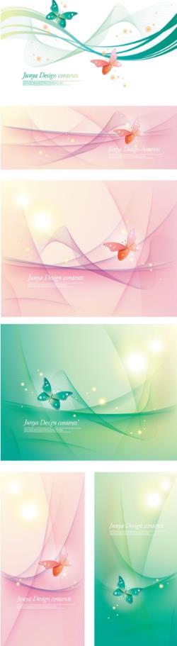 背景设计,其中共计6款颜色不同的素材设计,而且还有横版和竖版之分