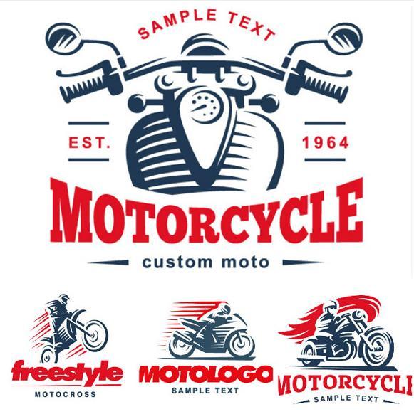 创意摩托赛车logo矢量素材图片