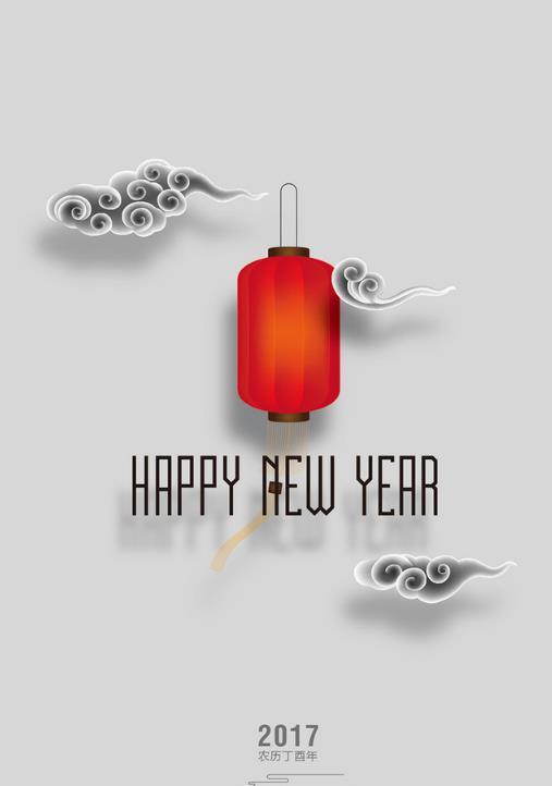 新年传统红色灯笼矢量图片素材