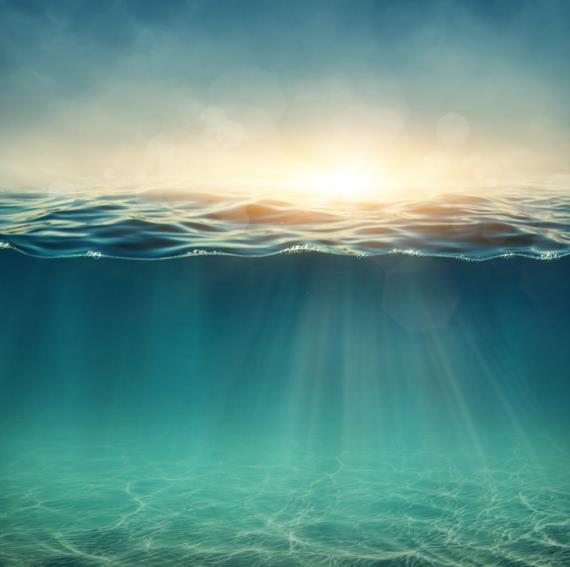 海底的世界你好奇时什么样的吗?蓝绿色的海底精美图片呈现的就是海底的世界,从图中可以看出原来海底的世界是蓝绿色的,还能隐约的看到太阳光的照射,上面是波涛汹涌的海浪,给人以朦胧的感觉让人类去无限的联想,图片就这么的美丽,那么真正的海底将会是有多么的漂亮呢!