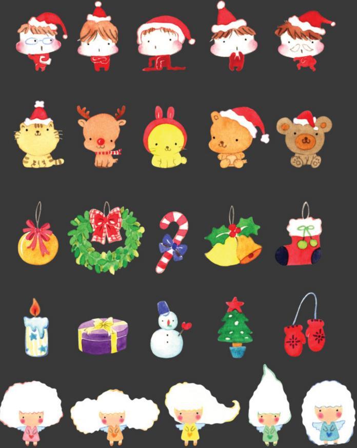传说圣诞节在睡觉之前把袜子放到床头的话,圣诞老人就会送来礼物。卡通可爱手绘圣诞节psd分层素材有多款关于圣诞的手绘小图标素材,带着圣诞帽的卡通小人、麋鹿、小猫、圣诞袜、圣诞树等等,每款都非常可爱,颜色的搭配非常喜庆,通过搞笑的方式展现出来,简直萌的不要不要的!快来挑一款自己喜欢的吧!
