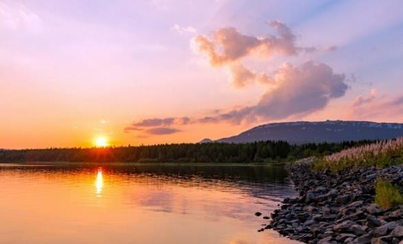 早晨迷人风景高清
