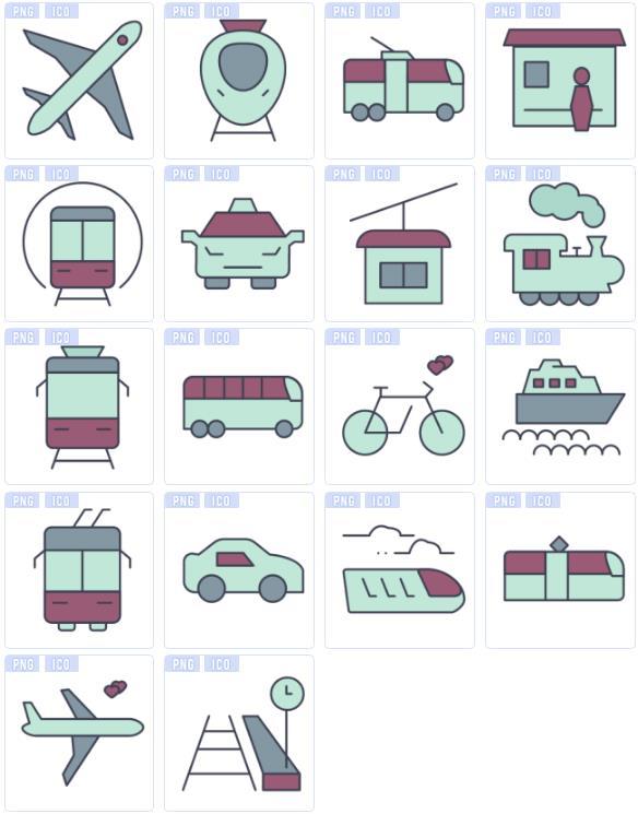 其中包括飞机,火车,汽车