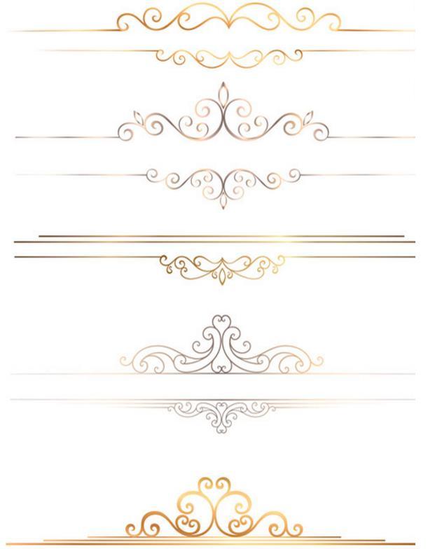 古典花纹边框设计psd素材