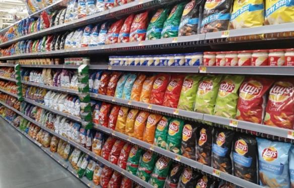 超市货架陈列高清图片