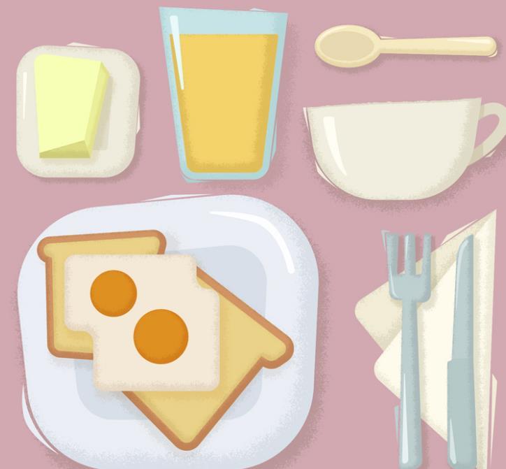 餐具设计矢量图