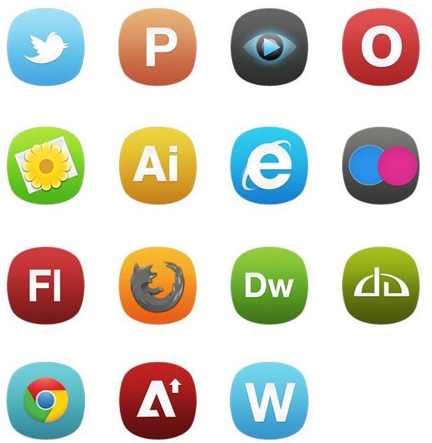 各类型软件图标都设计的不一样,每个都有属于自己的设计,卡通彩色软件ico图标中就带来一组以软件图标造型为图案设计的图标,其中还加入了谷歌,IE浏览器,uc浏览器,雅虎,播放器等多种款式的图标设计,而且颜色也是多种多样设计而成的,需要就来数码资源网下载吧。