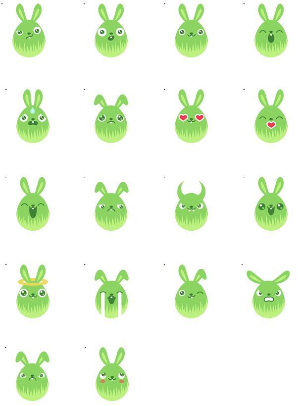 兔子矢量图png