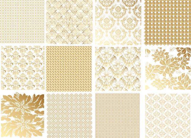 欧式金色花纹底纹背景设计矢量图