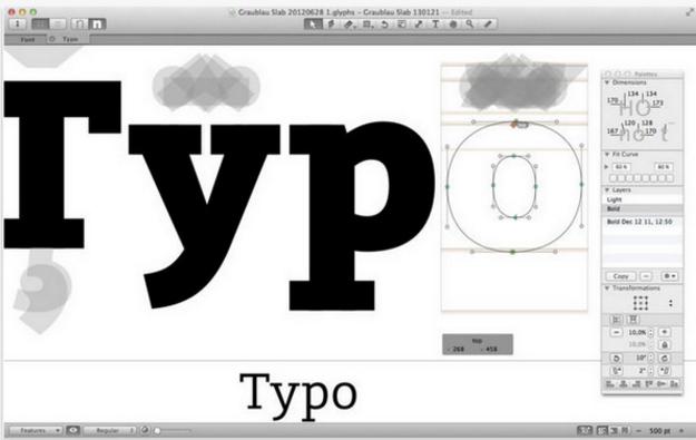 Glyphs Mac版特色