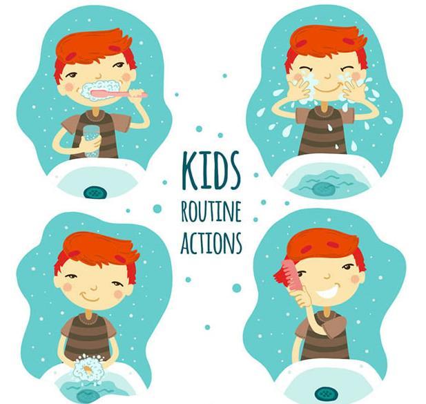 就清水洗脸,之后洗手,最后一步是用梳子梳头发,整体下来共计四个步骤
