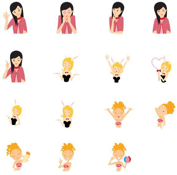图标的图案总是一成不变的话看着就容易腻,不过想搜寻新鲜感可以选择这款卡通小女孩ico图标,此款图标的图案都是以小女孩为主要元素设计的,而且还是以卡通形象展现给大家的,表情都说是不一样的,有开心的,无奈的,微笑的,花痴的,还有很多不同的造型设计,需要就来本站下载吧。