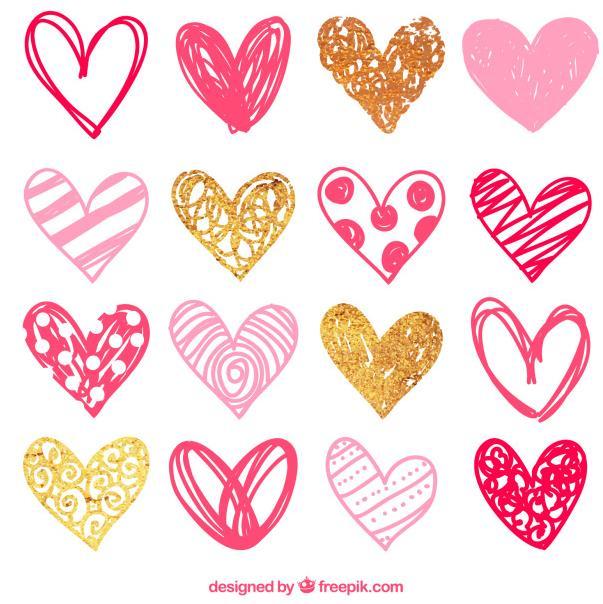 有关于情人节元素素材小编带来了这款情人节手绘花纹爱心心形图案矢量图,其中设计了最新的情人节元素,都是以手绘爱心为主要元素设计的,而且爱心图案中还加入了很多独特的手绘图案造型,多数以粉色手绘爱心展现给大家的,还有金色与红色手绘爱心的设计,需要就来本站下载吧。