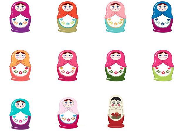 彩色中国娃娃ico图标设计