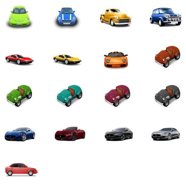 超级喜欢汽车的朋友一定会喜欢这款彩色跑车与轿车设计素材png图标的,其中设计了多款跑车,轿车,老爷车,敞篷车等等,每个造型都帅爆了,其中小编认识的车标都包括了奥迪,宝马,保时捷,陆虎,兰博基尼等等,各种颜色都有哦,需要就来数码资源网下载吧。