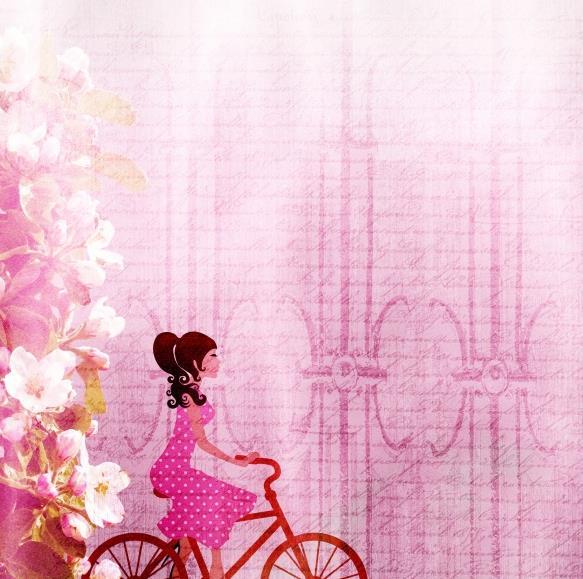 首页 资源下载 平面素材 精美图片 背景 > 粉色淡雅课件背景高清图片