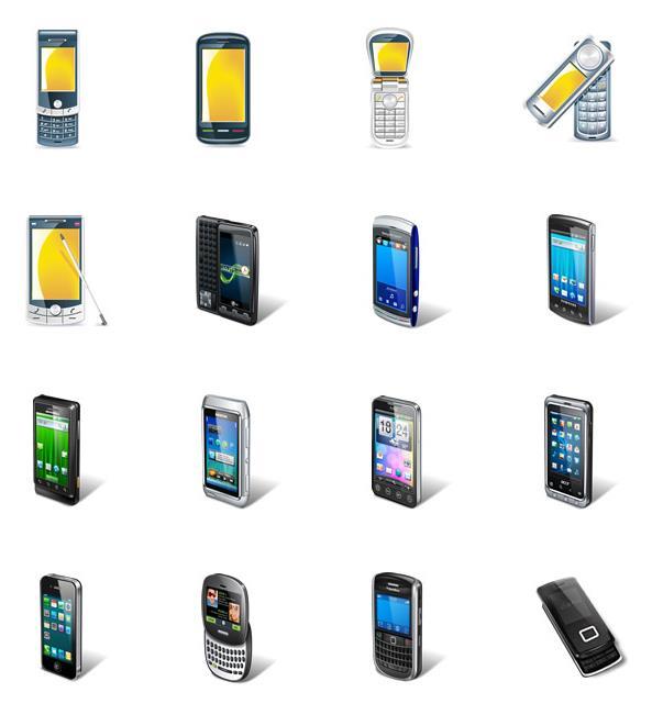 首页 资源下载 平面素材 矢量素材 图标 > 各种手机电话系列png图标